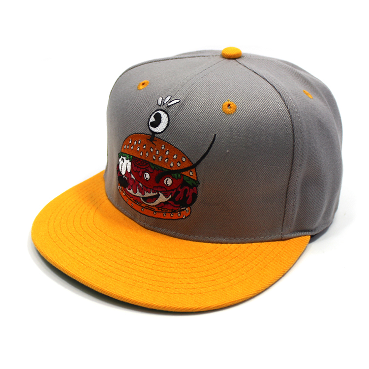 Embroidered Patch Custom Snapback Flat Hat