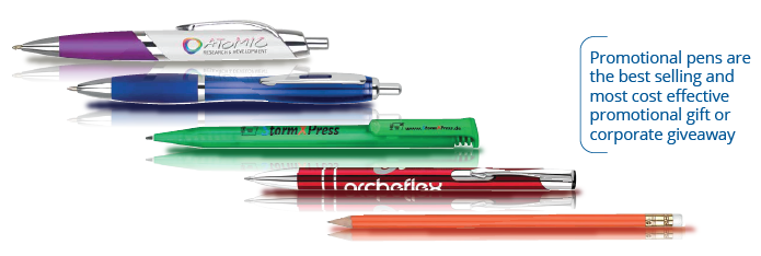 Promotional pens with custom imprint