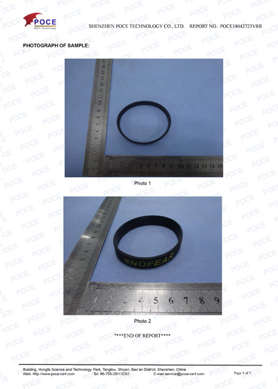 POCE18042723VRR WRISTBAND TEST REPORT