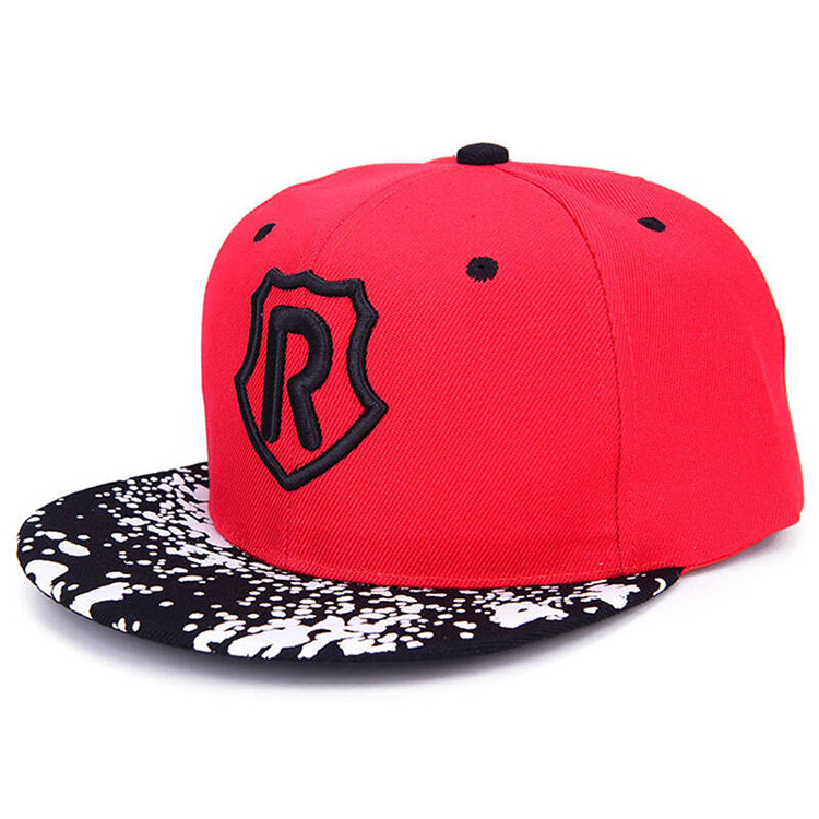 Customized Red 100% Cotton Snapback Hat