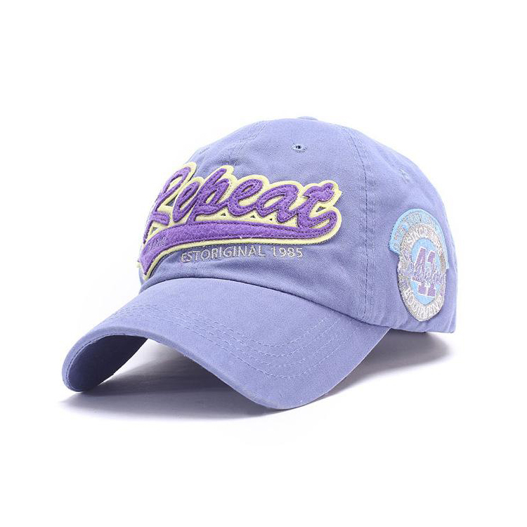 Wholesale Baseball Washed Cotton Cap with Custom Patch