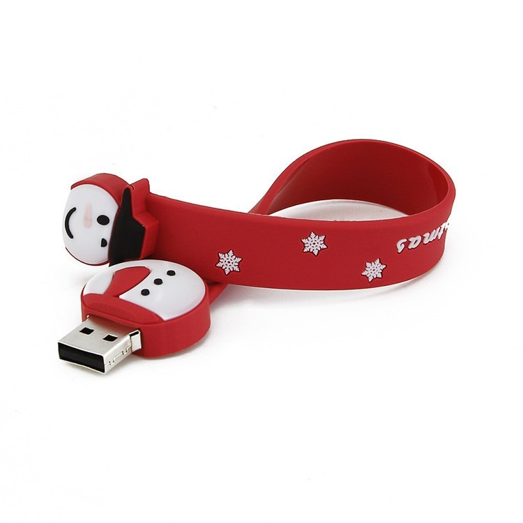 Custom Design Silicone Wrisband USB for Christmas Gifts