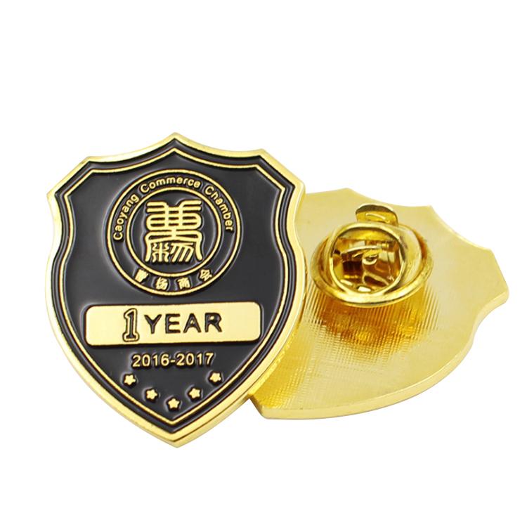 Customized Shaped Metal Lapel Pin Enamel Badge for Souvenirs