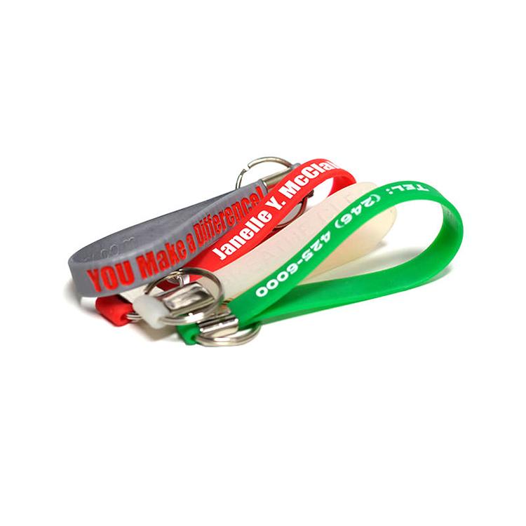 Branded Wristband Shape Custom Printed Keychain Holder
