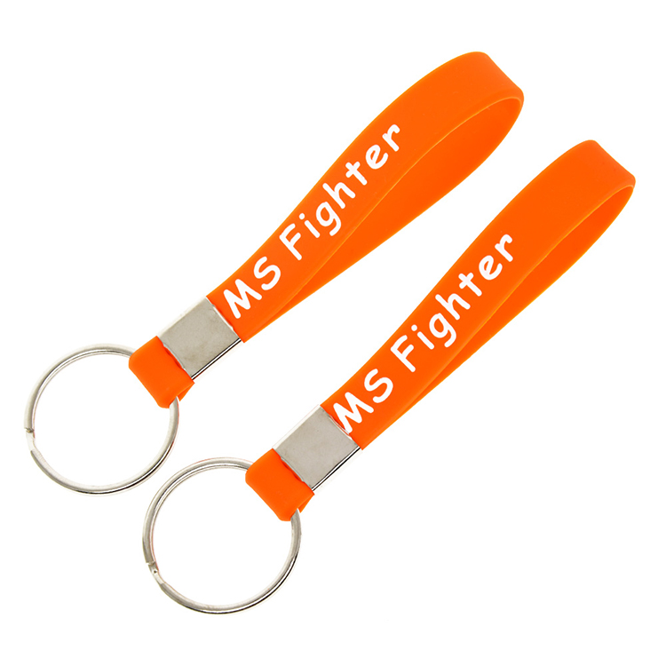 Promotional Custom Silicone Wristband with Keychain