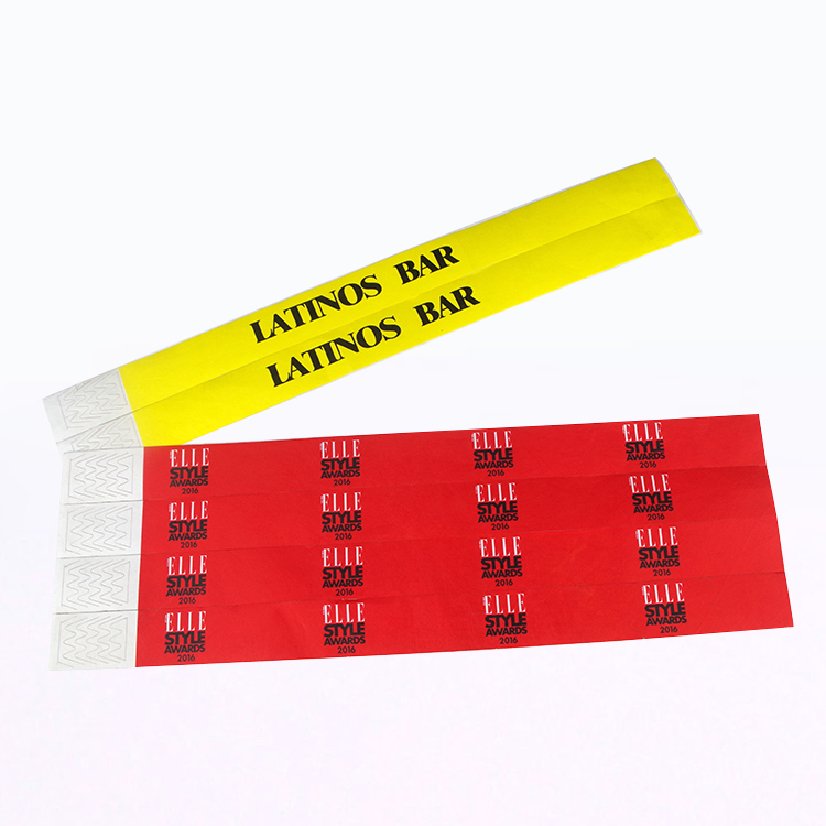 Colorful Paper Wristband with Custom Logo