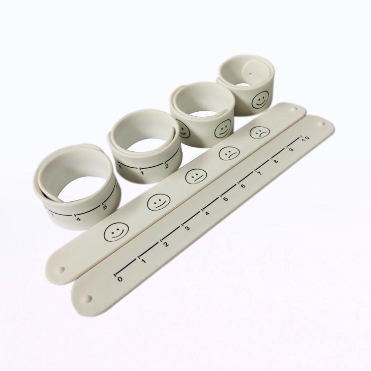 Silicone Slap Ruler Bracelet Wristband with Custom Logo