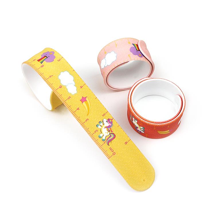 Functional Snap Bracelet Ruler Measure Slap Wristbands