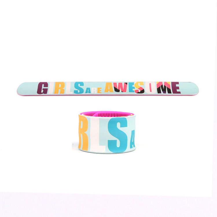 Custom Made Silicone Slap Wrisbtands for Promotional Gifts
