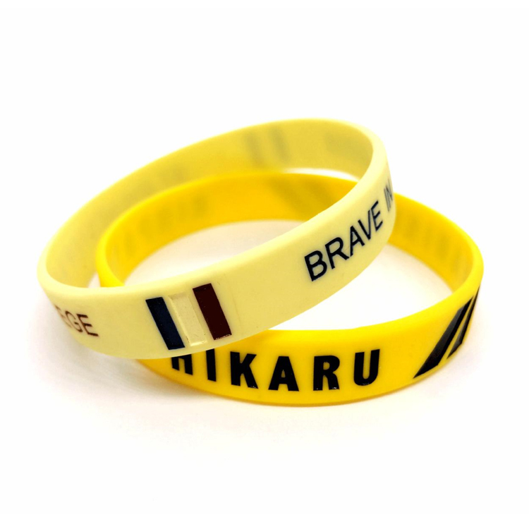 Wholesale Silicone Bracelets Rubber Bands with Custom Print for Party