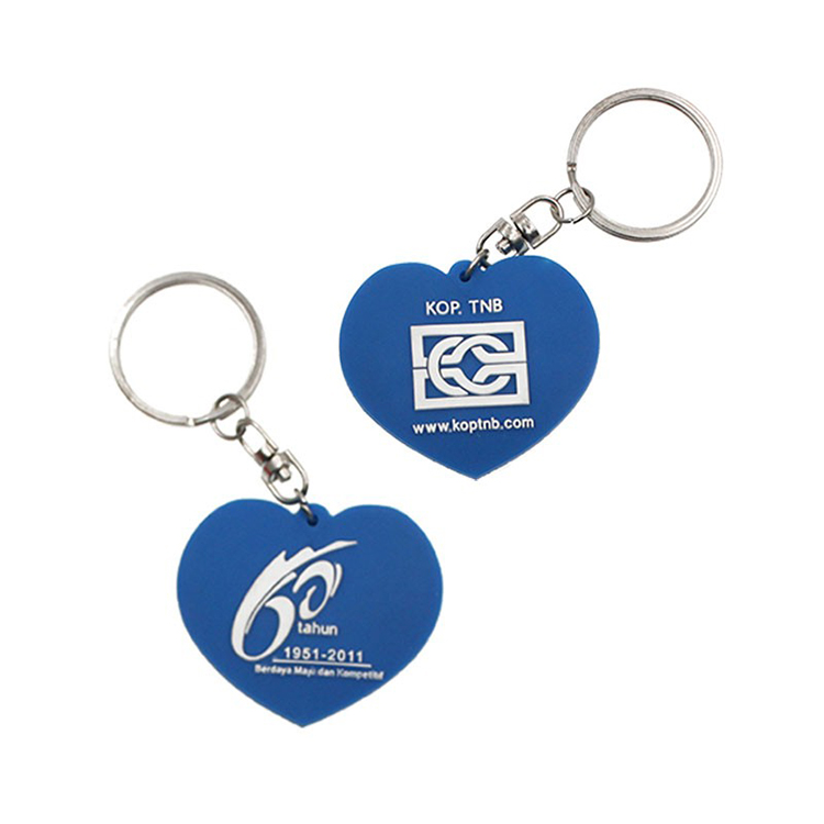 Promotional Rubber-PVC Keychain with Customized Embossed Logo
