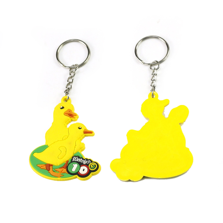 Customized Rubber Silicone Keyrings for Promotion
