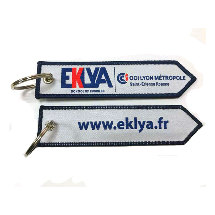 Embroidered Key Chain Luggage Tag Woven Patch