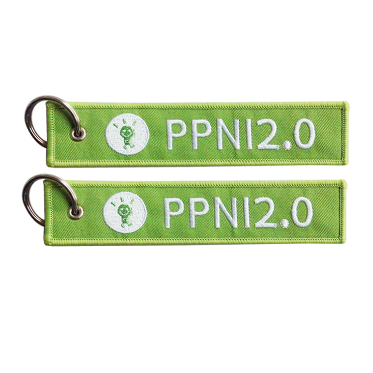 Customized Shape Ribbon Polyester Fabric Keychains