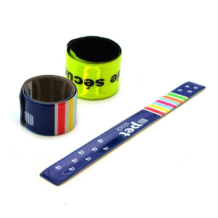 Promotional Reflective Safety Slap Bracelet Wristband