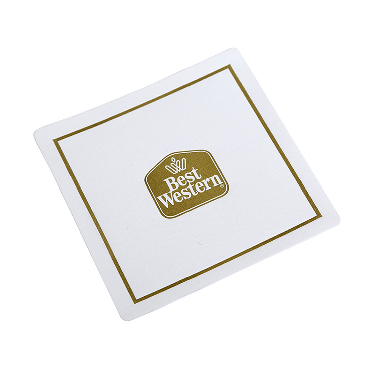 Promotional Custom Design Drink Coffee Paper Coasters for Glasses