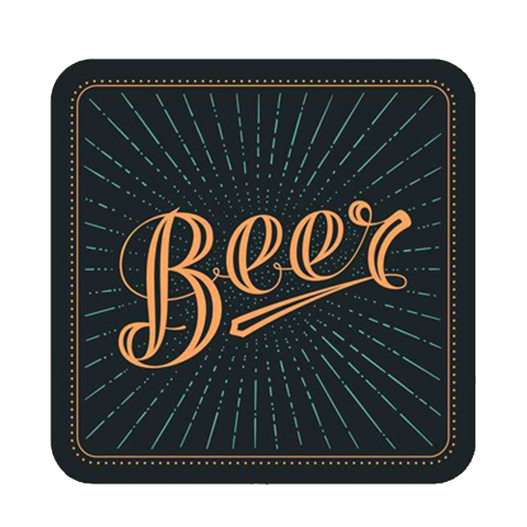 Promotional Custom Logo Bar Drink Coaster for Promotion Giveaway