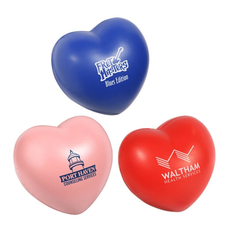 Heart Shape Stress Ball with Custom Logo Print Souvenirs